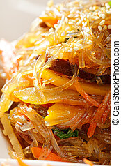Glass noodles appetizer closeup - Glass noodles served with...