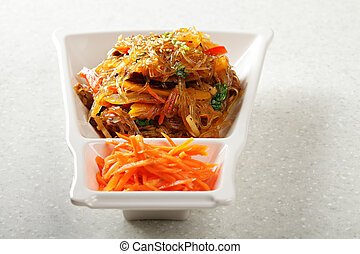 Glass noodles appetizer - Glass noodles served with...