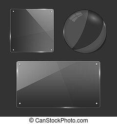 Glass objects illustration