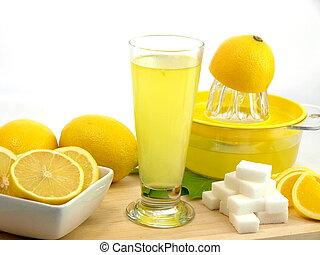 Glass of a fresh lemon juice