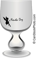 Glass of Absinthe Day - Empty absinthe-free glass for ...