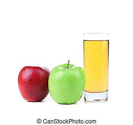 Glass of apple juice.
