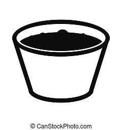 Glass of apple juice icon