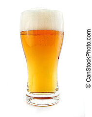 glass of beer drink with bubbles isolated