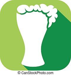 glass of beer flat icon