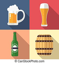 Glass of beer icon