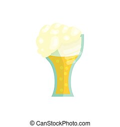 Glass of beer icon in cartoon style