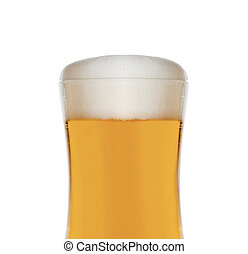 Glass of beer isolated close up