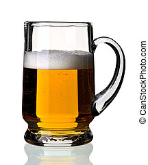 Glass of beer, isolated.