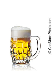 Glass of beer isolated