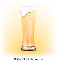Glass of beer of beer.