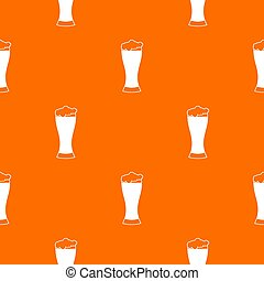 Glass of beer pattern seamless