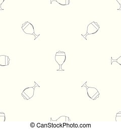 Glass of beer pattern seamless vector