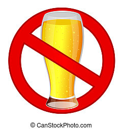 Glass of beer sign icon