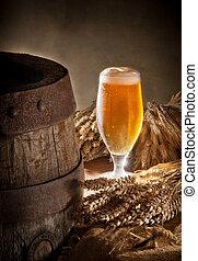 glass of beer  - glass of beer