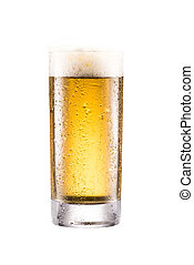 glass of beer with froth
