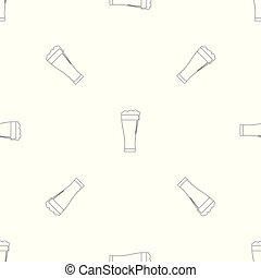 Glass of beverage pattern seamless vector
