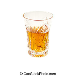 Glass of beverage