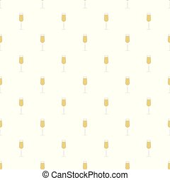 Glass of champagne pattern seamless vector