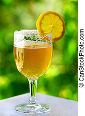 Glass of cold beer.