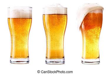 Glass of fresh beer