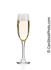 Glass of fresh champagne.