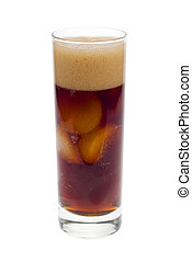 fresh cola with ice