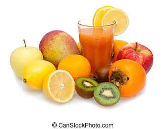 Multivitamin Juice - Glass of Fresh Multivitamin Juice - ...