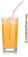 fresh orange juice with ice