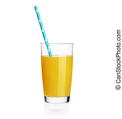 orange juisce isolated on white with clipping path