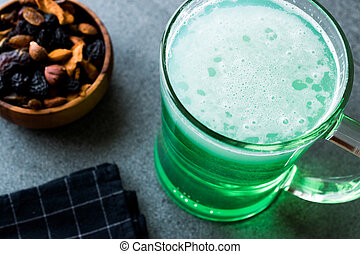 Glass of Green Beer for St Patrick's Day