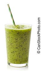 Glass of kiwi smoothie