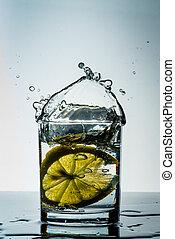Glass of lemon water