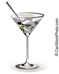 Glass of Martini cocktail