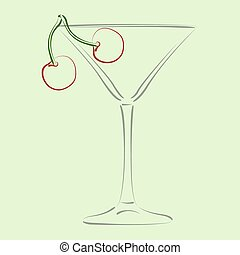Glass of martini.
