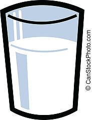 Glass Of Milk - Glass of milk half full or half empty.