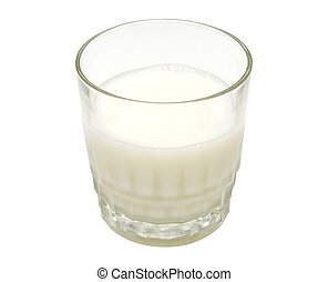 Glass of Milk with Clipping Path