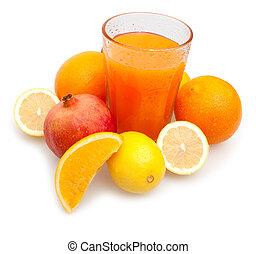 Multivitamin Juice - Glass of Multivitamin Juice - Oranges, ...