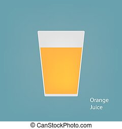 glass of orange juice - jug with orange juice- vector...