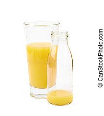 Glass of orange juice isolated