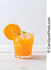 orange juice with ice