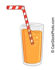 Glass of Orange Juice With Straw-01