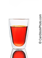 Glass of red water