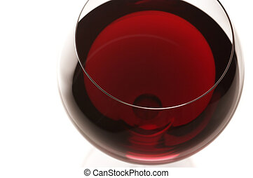 Glass of red wine close-up