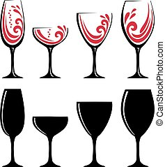 glass of red wine or juice
