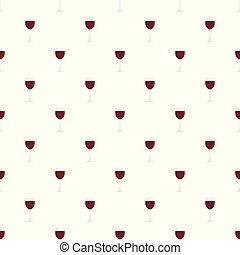 Glass of red wine pattern seamless vector