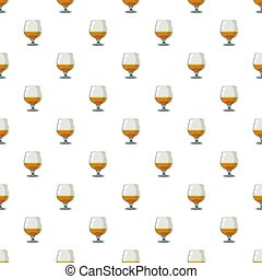 Glass of scotch or whiskey pattern