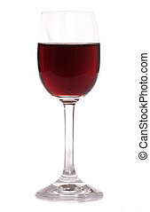 glass of sherry on white background
