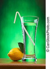 glass of soda water