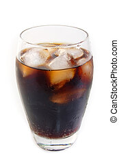 Glass of Softdrink - Glass of cola on bright background